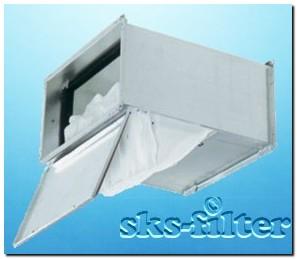 Фильтр-бокс или корпус фильтра для монтажа карманных фильтров в канале воздуховода
