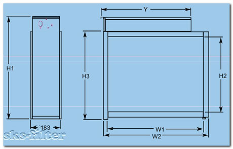 Габаритные размеры бытового электростатического фильтра Trion HE